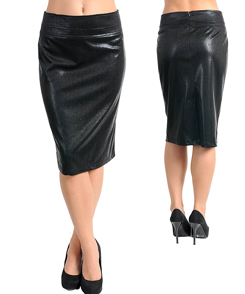 womans plus size black leather look skirt 3xl 22 24 new ebay