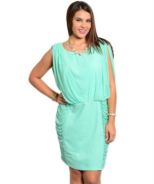womans plus size mint green dress ruched sides 1xl 2xl 3xl nwt | ebay